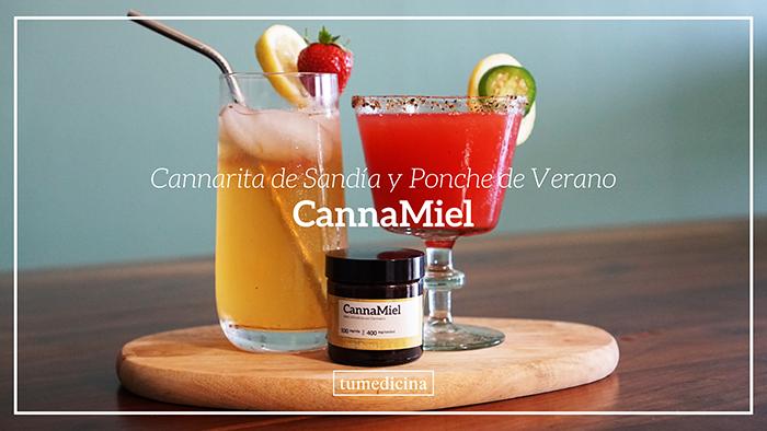 Tu Receta: Cannarita De Sandía Y Ponche De Verano Con CannaMiel